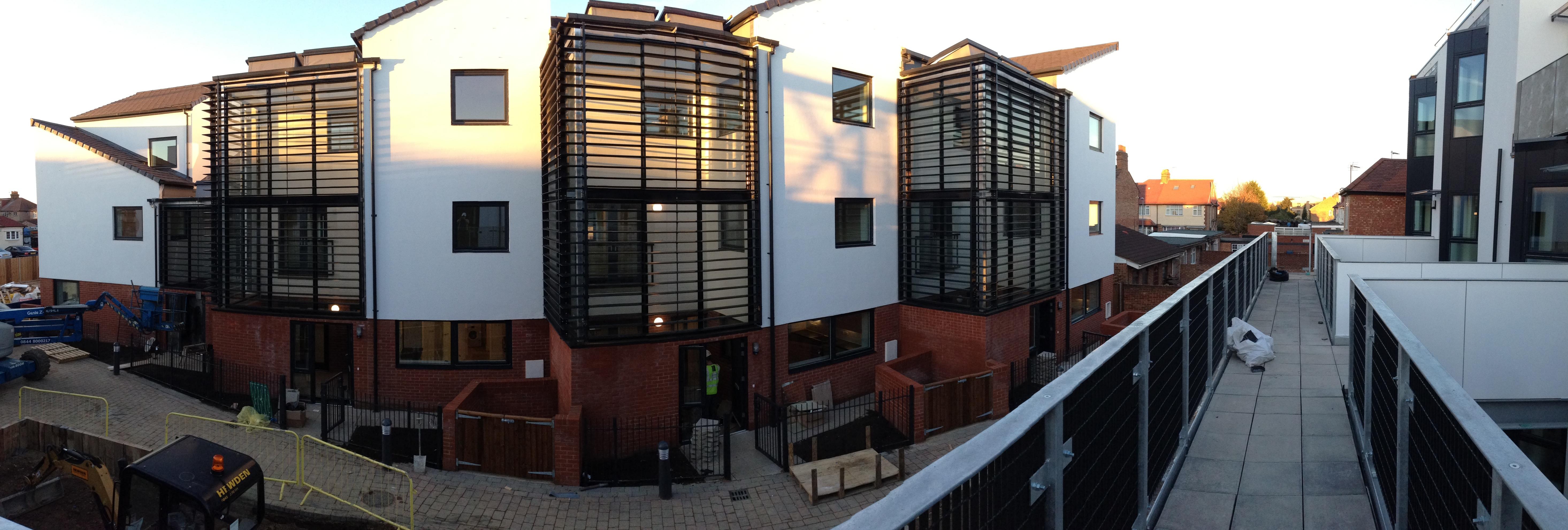 Modern Apartment Block Solare Shading